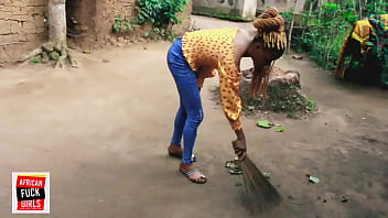 AFTER SWEEPING GRANDMA'S COMPOUND, ONE OF OUR TENANTS PEEDS THROUGH A SMALL HOLE WHILE I WAS TAKING MY BATH. FULL VIDEO AVAILABLE IN RED CHANNEL