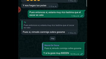 WHATSAPP CHAT WITH MY FRIEND SON OSCARIN'S MOM