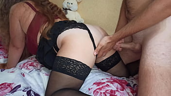 Beaty girl with big ass has cum multiple times