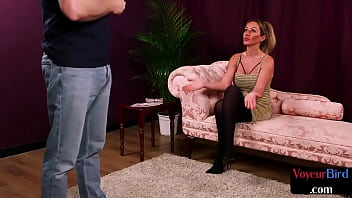 Streaming Video CFNM domme encouraging submissive guy as he jerks his cock - Fap18