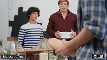 Thanksgiving Dinner Party Has Turned Into A Dick Orgy With Nate Grimes His Friends - Men