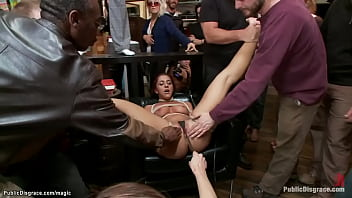 Ginger tazappered and fucked in public