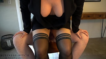 Streaming Video trainee meets female boss after work for sex on rocking chair - businessbitch - XLXX.video