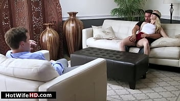 Wife is shared and squirts before fucked