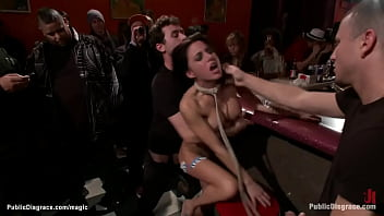Slut fisted and ass fucked in public