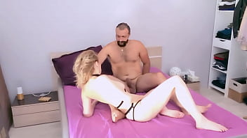 FOOT FETISH ASS-TO-MOUTH SPERM SWALLOWING FOR 50YO BLONDE MILF 1of2 13 min