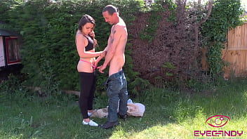 Innocent Walk in the Park Turned into Naughty Sex with my Hot Stepdad OUTDOOR SEX