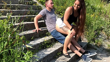 German Teen caught 3 times while fucking at the Danube
