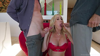 JulesJordan.com - Brandi Love Is Back At It With Some 2 Cock Jerk Off Instruction 3 Way Action