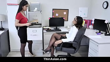 Two Asian Babes Go South On Big White Cock