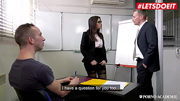 LETSDOEIT - (Valentina Nappi, Rick Angel, Tonio Garcia) - Big Tits Teacher Gets Fucked In The Ass And Pussy After Class