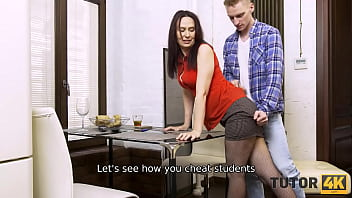 TUTOR4K. Confrontation between boy and fake tutor leads to hot quickie