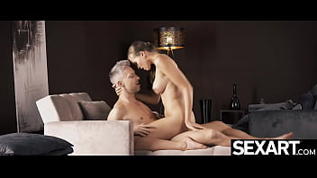 Watch her big natural tits bounce as she rides his cock to orgasm 12 min