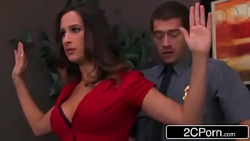 Ashley Adams gets pounded by two cops