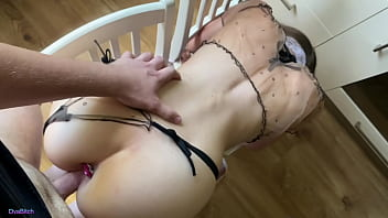 STEPSISTER GETS HER ASS STUFFED WITH BUTTPLUG AND HER PUSSY FUCKED