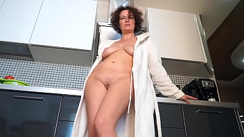 Hot Horny MILF takes a bath and does housework with a naked cunt!