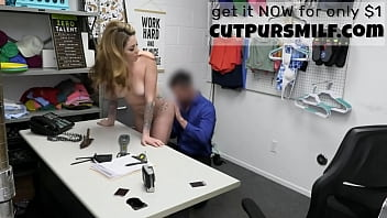 Cute Hot Blonde Milf Getting BlackMailed In Back Office - Crystal Taylor 8分钟