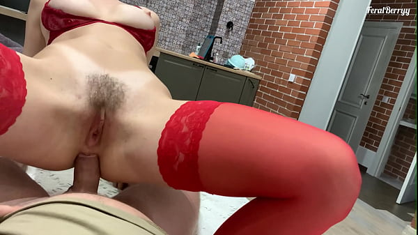 Perfect tits are shaking from anal sex with a creampie in the ass (FeralBerryy